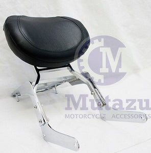 Chrome Sissy Bar Backrest & Luggage Rack for Honda Rebel 250 1985-2015