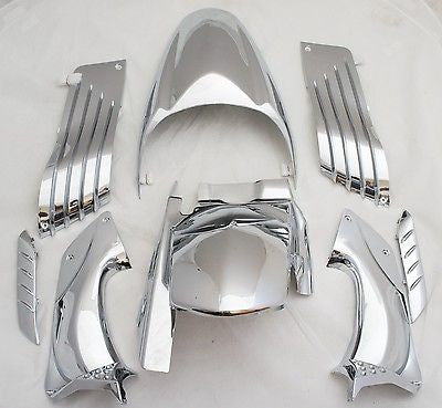 Chrome Fairing Set, Kawasaki 06-11 Ninja ZZR1400 ZX-14R ZX14R, Ship from USA