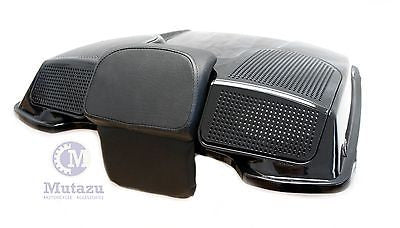 Vivid Black Dual 6x9 Speaker Lid for Harley Tour Paks (94-2013)