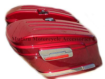 Universal HL Hard Saddlebags - Burgundy Red