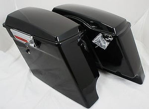 "Fat Ass Wide Width 4"" Extended Hard Saddlebags for H-D Touring"