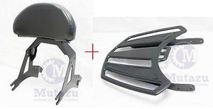 Detachable Black Backrest Sissy bar & Luggage Rack 4 Victory Cross Country Road