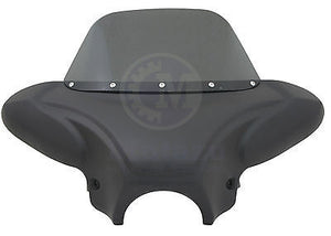 "34"" Matte Black Universal Batwing Fairing with Windshield for Motorcycle Cruiser"