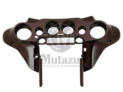 Mutazu Black Cherry Front Inner Cowl Fairing for Harley Davidson HD Touring FLH
