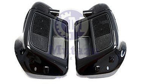 Vivid Black Standard Lower Vented Fairings for 2014 & up Harley Touring Models