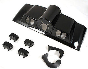Mutazu Vivid Black Inner Fairing w/ Switch Cap Kit fits Harley FLHR FL Touring