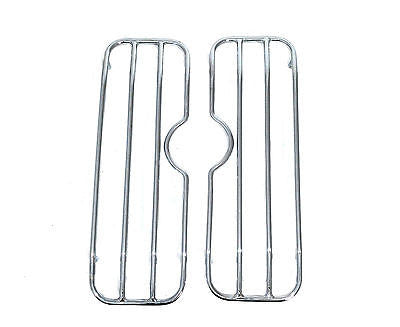Universal HL Hard Saddlebags - Chrome Top Rail Racks
