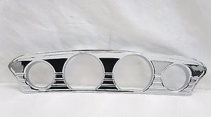 Chrome Tri Line Gauge Trim for 14+ H-D Touring