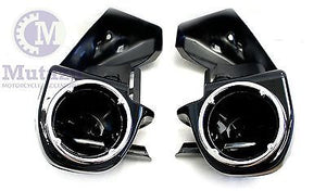 Speaker Pods Lower Vented Fairings Set fit Harley HD Touring models Black,type B