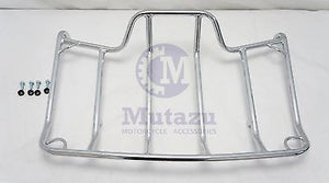 Mutazu Tour Pak Top Rail Luggage Rack for Harley Touring Road King Street Glide
