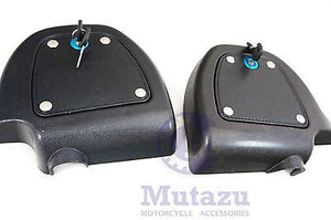 Mutazu Locking Doors with Keys for Harley Lower Vented Fairing Kits FLH FLT FLTR