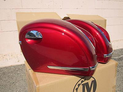 Universal MU Hard Saddlebags - Burgundy Red