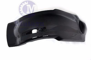 Vivid Black Extended Stretched Fender Overlay for Harley Touring