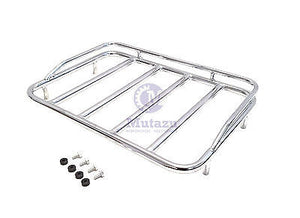 Mutazu Chrome Finish Luggage Top Rack Top Rail for Harley Tour Pak FLH FLT 97-13