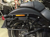 Large Mutazu Universal Detachable Hard Saddlebags in Matte Black