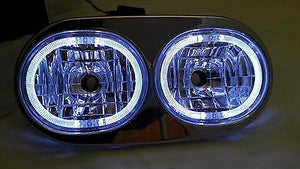 Angel Demon Eyes LED Headlight for Harley Road Glide 98-2013