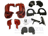 Mutazu Fire Red Lower Vented Fairings fits Harley Road King Street Glide
