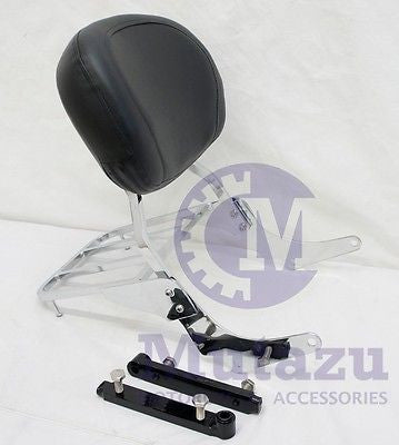 Mutazu Premium Sissy Bar Backrest & Luggage Rack for Suzuki VZ800 Marauder