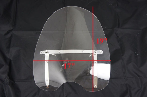 Universal clear windshield wind shield fits all cruisers with 7/8