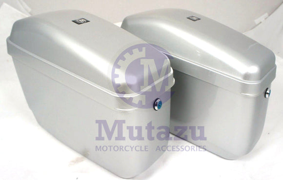 Universal GA Hard Saddlebags - Silver