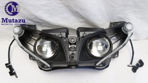Premium Quality LED Headlight assembly for Yamaha YZF-R1 2012 2013 2014 Clear