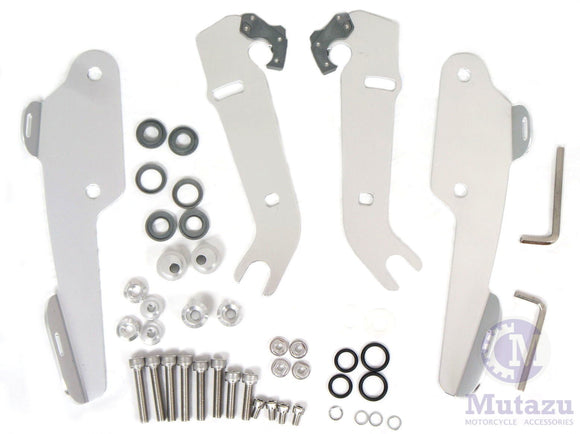Mutazu Aggressive Batwing Trigger Lock Mounting Kit for Harley Road King FLHR