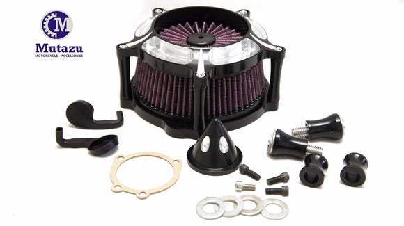Mutazu Jet Turbine High Flow Air Cleaner Filter for Harley Sportster 883 1200
