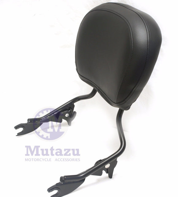 Detachable Black Sissy Bar for 2009 -up Harley Touring