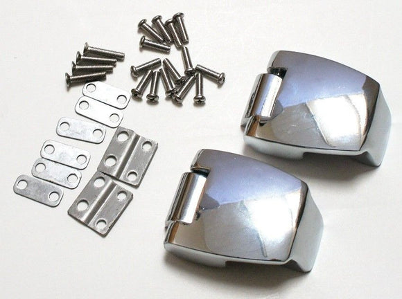 Mutazu Premium Hardware Hinges Hinge Set for Harley King Ultra Tour Pak 88-13