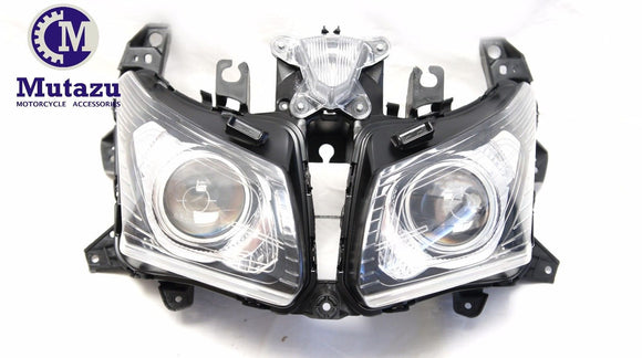 Mutazu Premium Quality Headlight assembly for Yamaha TMax 530 TMAX530 2012-2014