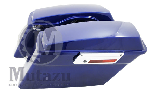 Complete Hard Touring Saddlebags Cobalt Blue for Harley Touring Models
