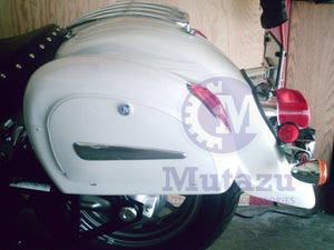 Universal LN Hard Saddlebags - Glossy White