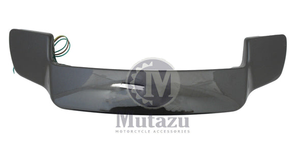 Mutazu Black Pearl Tour Pak LED Spoiler for Harley King Chopped Razor Paks 93-13