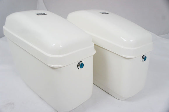 Universal GA Hard Saddlebags - Gloss White