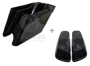 "Mutazu 2014 + Up ABS 4.5"" Extended Bases & 6X9 Speaker Lids for Harley FLH FLT"