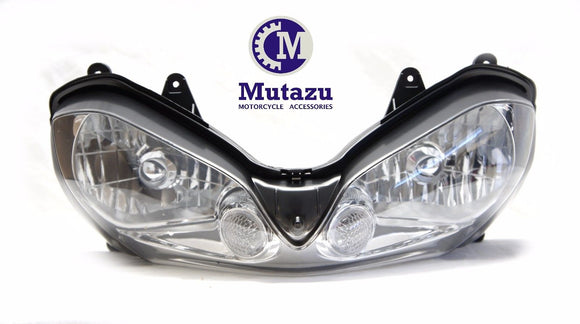 Mutazu Premium Quality Headlight assembly for Kawasaki ZX10R ZX 10R 2004 2005