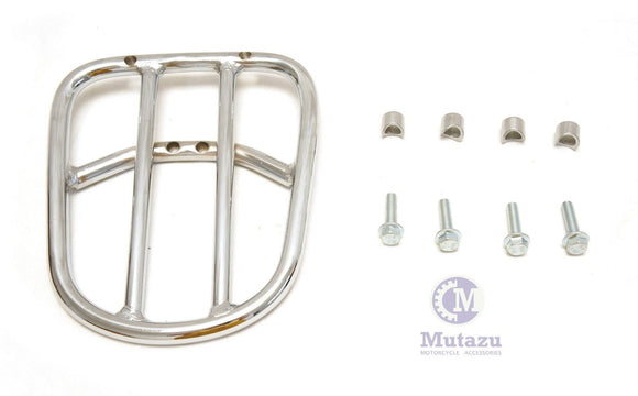 Mutazu Heavy Duty Chrome Luggage Rack for Harley HD V ROD VROD VRSC VRSCA VRSCD
