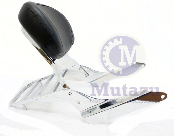 Chrome Sissy Bar Backrest & Luggage Rack for Honda Shadow 600 VLX VT 1999-2008
