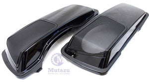 6 x 9 Speaker Lids - Vivid Black CVO Style for Harley Touring 1994-2013
