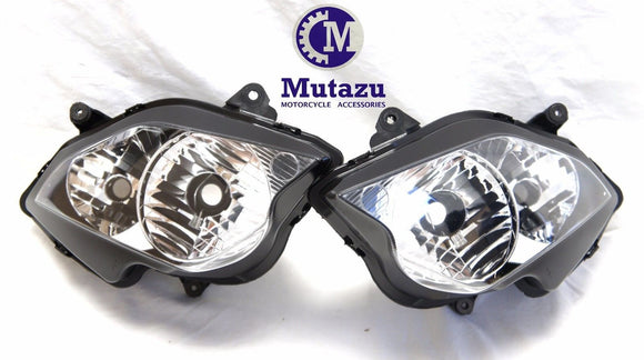 Mutazu Premium Quality Headlight assembly for Honda VFR800 VFR 800 2002-2012