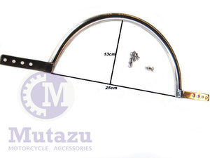 Mutazu Stainless Steel 25cm Universal Hard Saddlebag Hard Bag Stabilizer Mount