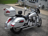 Universal RS Hard Saddlebags - Silver