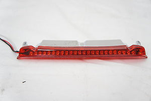 Red LED Light Tour Pak Air Wing Top Luggage rack Rail for Harley