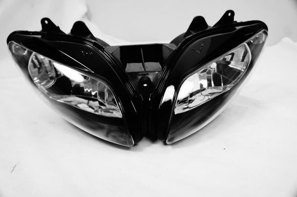 Mutazu Premium Headlight Head light Assembly Yamaha for YZF-R1 2002-2003 Clear