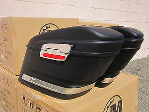 Universal HL Hard Saddlebags - Matte Black