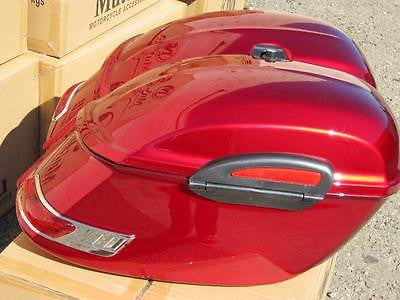 Universal RS Hard Saddlebags - Red