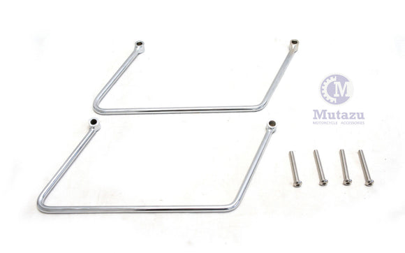 Chrome Saddlebag Supports for Suzuki VL1500 Intruder C90
