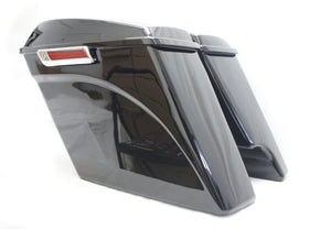 "Complete 2 into 1  4.5"" Extended Stretched Saddlebags w/ 6x9 Speaker lids for Harley 14-up"