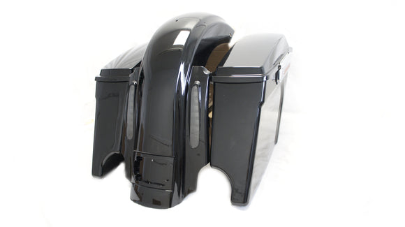 Extended saddlebags w/ CVO Dual Cut Stretched Rear Fender 4 Harley Touring 09-13