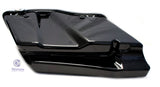 "Mutazu Black CVO 4"" Extended Stretched Saddlebags for 2014 - UP Harley Touring"